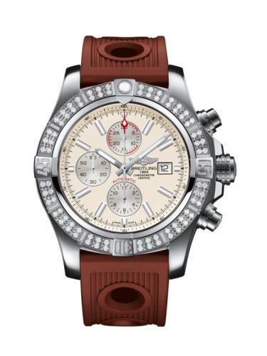 Breitling A1337153/G779/206S/A20D.2 : Super Avenger II Stainless Steel / Diamond / Stratus Silver / Rubber / Folding
