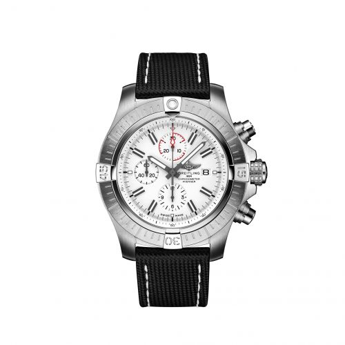 Breitling A133751A1A1X1 : Avenger Chronograph 48 Stainless Steel / White / Calf / Pin