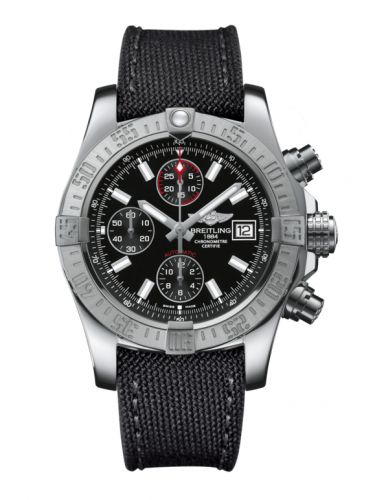 Breitling A13381111B1W1 : Avenger II Stainless Steel / Volcano Black / Military / Pin