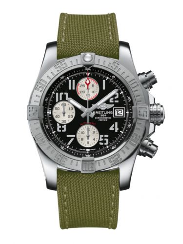 Breitling A1338111.BC33.106W : Avenger II Stainless Steel / Volcano Black / Military