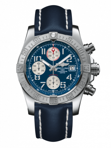 Breitling A1338111/C870/105X/A20BA.1 : Avenger II Stainless Steel / Mariner Blue / Calf / Pin