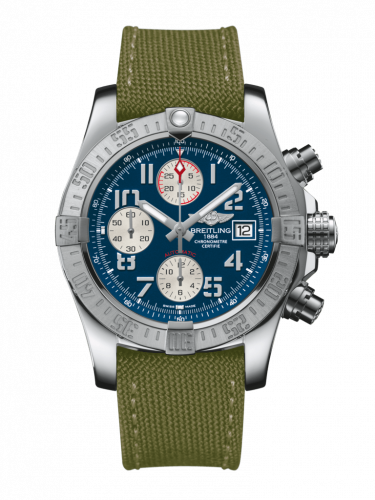 Breitling A1338111/C870/106W/A20BA.1 : Avenger II Stainless Steel / Mariner Blue / Military / Pin