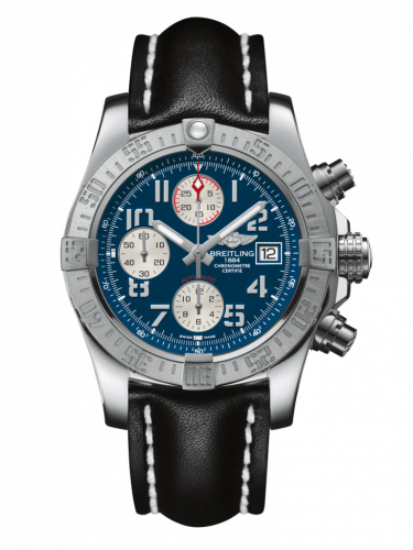 Breitling A1338111/C870/435X/A20BA.1 : Avenger II Stainless Steel / Mariner Blue / Calf / Pin