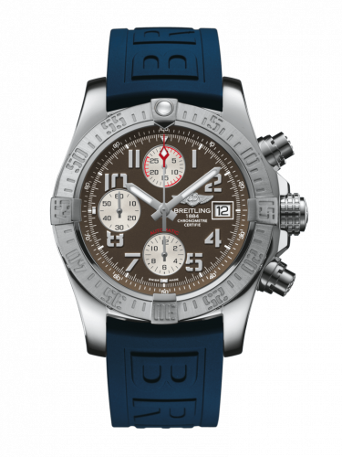 Breitling A1338111/F564/157S/A20D.2 : Avenger II Stainless Steel / Tungsten Gray / Rubber / Folding