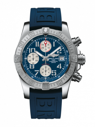 Breitling A13381111C1S2 : Avenger II Stainless Steel / Mariner Blue / Rubber / Pin