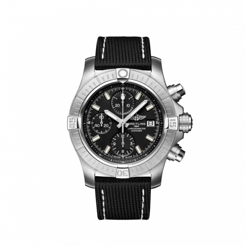 Breitling A13385101B1X1 : Avenger Chronograph 43 Stainless Steel / Black / Military / Pin