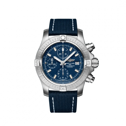 Breitling A13385101C1X1 : Avenger Chronograph 43 Stainless Steel / Blue / Military / Pin