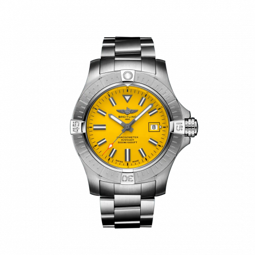 Breitling A17319101I1A1 : Avenger Automatic 45 Seawolf Stainless Steel / Yellow / Bracelet