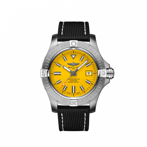 Breitling A17319101I1X2 : Avenger Automatic 45 Seawolf Stainless Steel / Yellow / Military / Folding