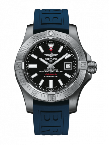 Breitling A1733110/BC30/158S/A20SS.1 : Avenger II Seawolf Stainless Steel / Volcano Black / Rubber / Pin