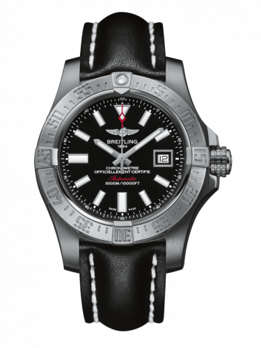 Breitling A1733110/BC30/436X/A20DSA.1 : Avenger II Seawolf Stainless Steel / Volcano Black / Calf / Folding