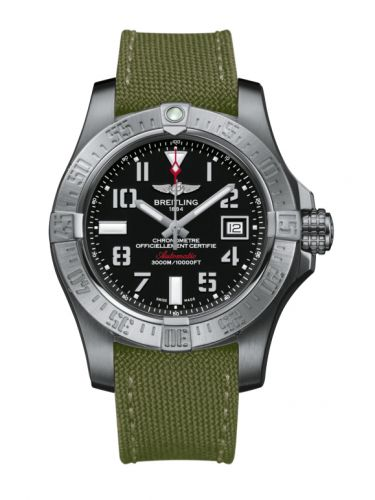 Breitling A1733110/BC31/106W/A20BASA.1 : Avenger II Seawolf Stainless Steel / Volcano Black / Military / Pin