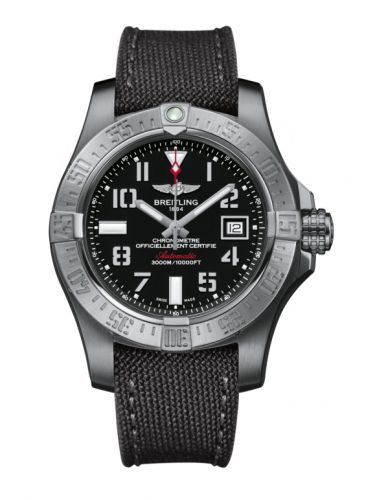 Breitling A1733110/BC31/109W : Avenger II Seawolf Stainless Steel / Volcano Black / Military / Pin
