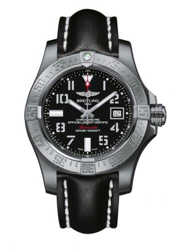 Breitling A1733110/BC31/435X/A20BASA.1 : Avenger II Seawolf Stainless Steel / Volcano Black / Calf / Pin
