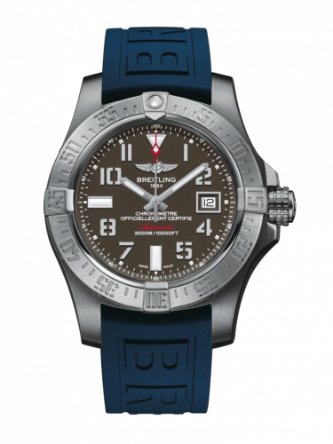 Breitling A1733110/F563/158S/A20SS.1 : Avenger II Seawolf Stainless Steel / Tungsten Gray / Rubber / Pin