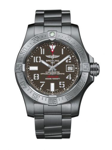 Breitling A1733110/F563/169A : Avenger II Seawolf Stainless Steel / Tungsten Gray / Bracelet