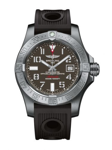 Breitling A1733110/F563/200S/A20DSA.2 : Avenger II Seawolf Stainless Steel / Tungsten Gray / Rubber / Folding
