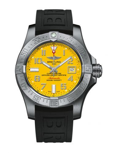 Breitling A17331101I1S2 : Avenger II Seawolf Stainless Steel / Cobra Yellow / Rubber / Pin