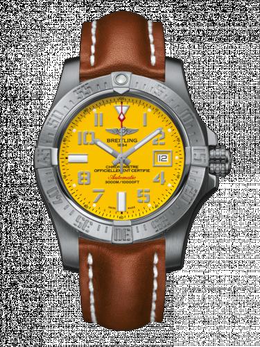 Breitling A1733110/I519/434X/A20DSA.1 : Avenger II Seawolf Stainless Steel / Cobra Yellow / Calf / Folding