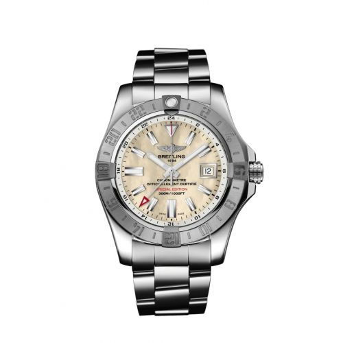 Breitling A3239011/A809/170A : Avenger II GMT Stainless Steel / MOP / Japan Special Edition