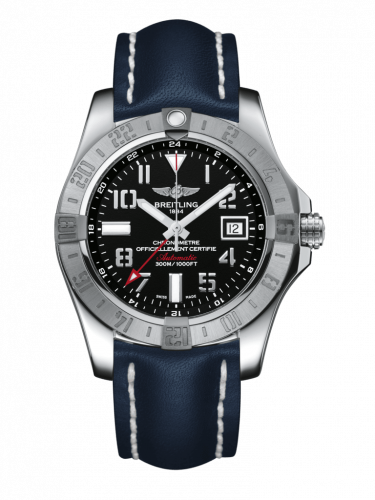 Breitling A3239011/BC34/105X/A20BA.1 : Avenger II GMT Stainless Steel / Volcano Black / Calf / Pin