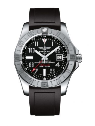 Breitling A3239011/BC34/131S/A20S.1 : Avenger II GMT Stainless Steel / Volcano Black / Rubber