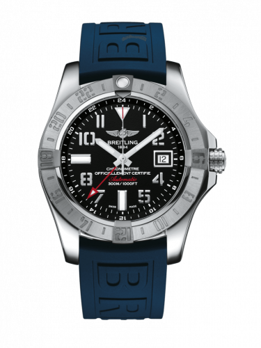 Breitling A3239011/BC34/158S/A20S.1 : Avenger II GMT Stainless Steel / Volcano Black / Rubber / Pin