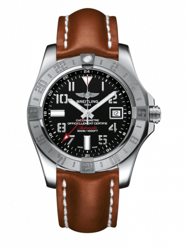 Breitling A3239011/BC34/434X/A20D.1 : Avenger II GMT Stainless Steel / Volcano Black / Calf / Folding