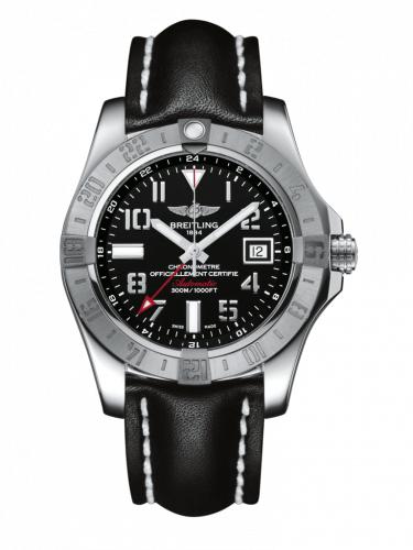 Breitling A3239011/BC34/435X/A20BA.1 : Avenger II GMT Stainless Steel / Volcano Black / Calf / Pin