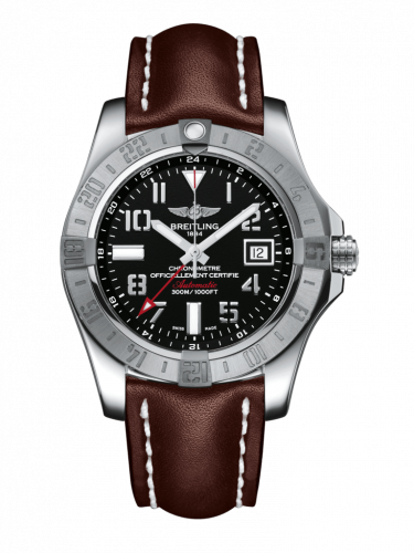 Breitling A3239011/BC34/438X/A20D.1 : Avenger II GMT Stainless Steel / Volcano Black / Calf / Folding