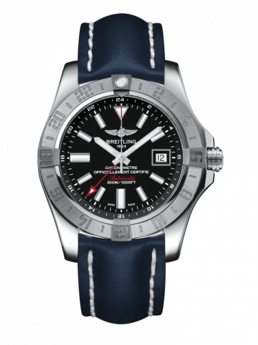 Breitling A3239011/BC35/105X/A20BA.1 : Avenger II GMT Stainless Steel / Volcano Black / Calf / Pin