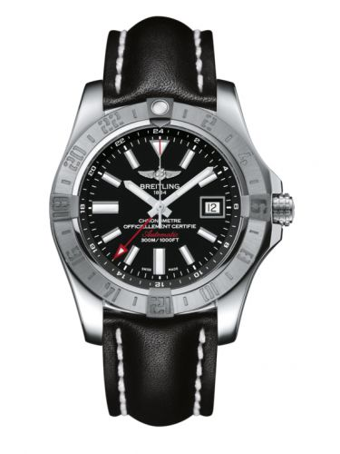 Breitling A3239011/BC35/435X/A20BA.1 : Avenger II GMT Stainless Steel / Volcano Black / Calf / Pin
