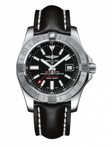 Breitling A3239011/BC35/436X/A20D.1 : Avenger II GMT Stainless Steel / Volcano Black / Calf / Folding