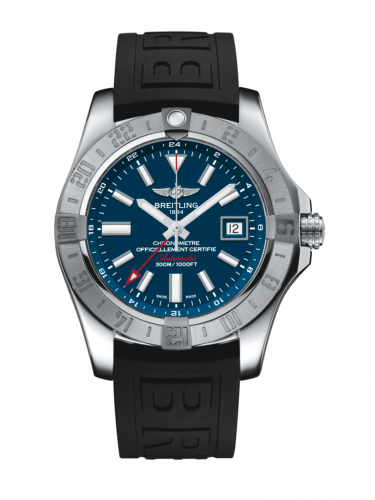 Breitling A3239011/C872/153S/A20D.2 : Avenger II GMT Stainless Steel / Mariner Blue / Rubber / Folding