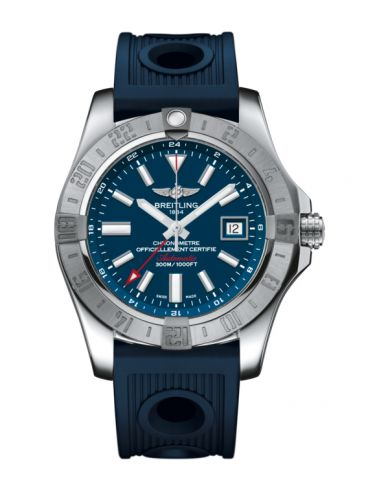 Breitling A3239011/C872/211S/A20D.2 : Avenger II GMT Stainless Steel / Mariner Blue / Rubber / Folding