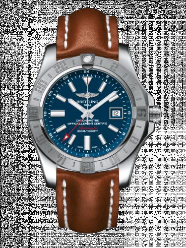 Breitling A3239011/C872/434X/A20D.1 : Avenger II GMT Stainless Steel / Mariner Blue / Calf / Folding