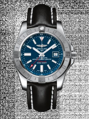 Breitling A3239011/C872/436X/A20D.1 : Avenger II GMT Stainless Steel / Mariner Blue / Calf / Folding