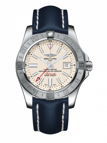 Breitling A3239011/G778/112X/A20D.1 : Avenger II GMT Stainless Steel / Stratus Silver / Calf / Folding