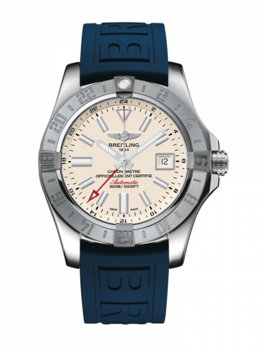 Breitling A3239011/G778/158S/A20S.1 : Avenger II GMT Stainless Steel / Stratus Silver / Rubber / Pin