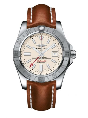 Breitling A3239011/G778/434X/A20D.1 : Avenger II GMT Stainless Steel / Stratus Silver / Calf / Folding