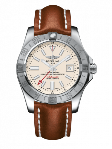 Breitling A3239011/G778/433X/A20BA.1 : Avenger II GMT Stainless Steel / Stratus Silver / Calf / Pin