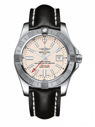 Breitling A3239011/G778/436X/A20D.1 : Avenger II GMT Stainless Steel / Stratus Silver / Calf / Folding
