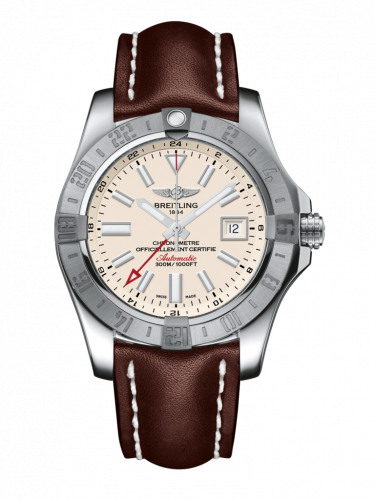 Breitling A3239011/G778/438X/A20D.1 : Avenger II GMT Stainless Steel / Stratus Silver / Calf / Folding