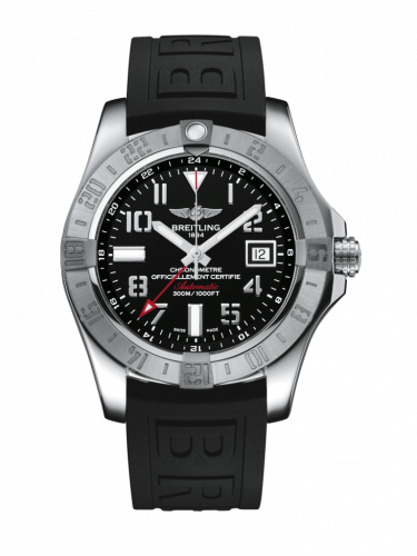 Breitling A32390111B2S2 : Avenger II GMT Stainless Steel / Volcano Black / Rubber / Pin