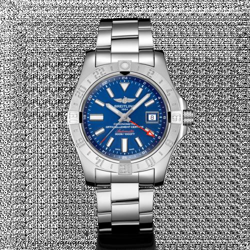 Breitling A32390111C1A1 : Avenger II GMT Stainless Steel / Mariner Blue / Bracelet