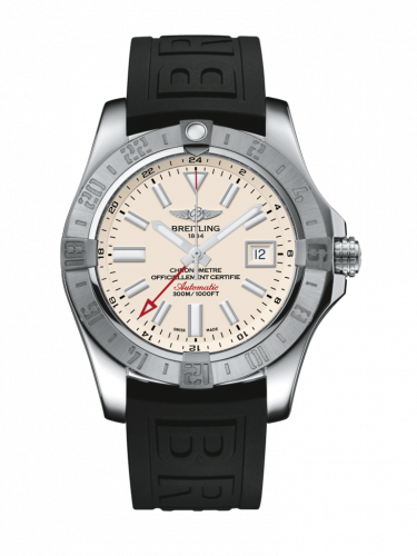 Breitling A32390111G1S1 : Avenger II GMT Stainless Steel / Stratus Silver / Rubber / Folding