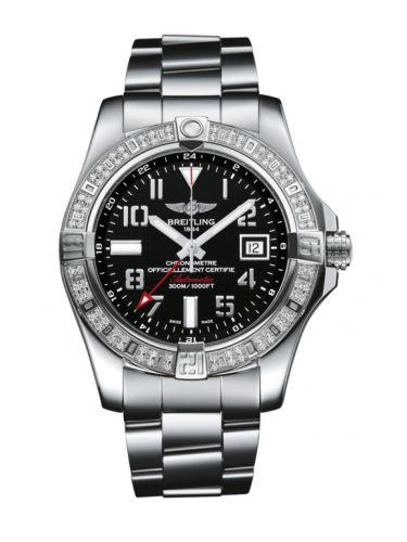 Breitling A3239053.BC34.170A : Avenger II GMT Stainless Steel / Diamond / Volcano Black / Bracelet