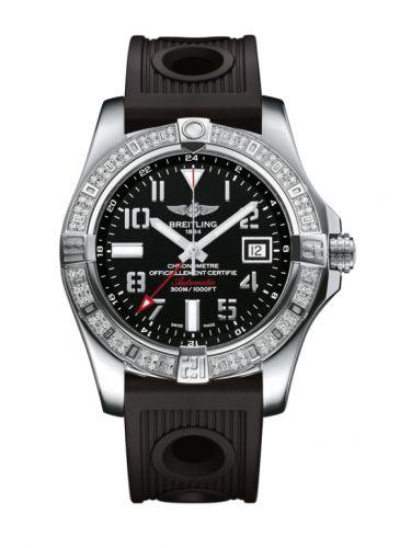 Breitling A3239053.BC34.200S : Avenger II GMT Stainless Steel / Diamond / Volcano Black / Rubber