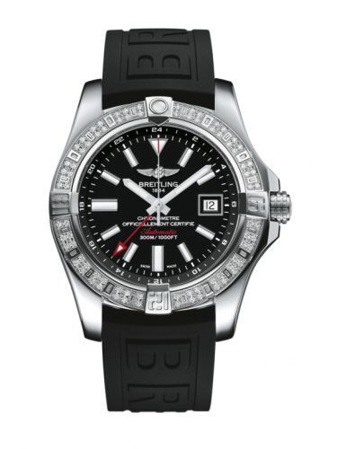 Breitling A3239053.BC35.152S : Avenger II GMT Stainless Steel / Diamond / Volcano Black / Rubber