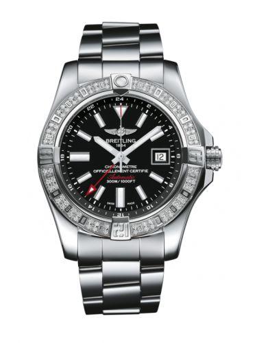 Breitling A3239053.BC35.170A : Avenger II GMT Stainless Steel / Diamond / Volcano Black / Bracelet